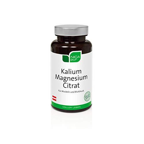 NICApur Kalium Magnesium Citrat I mit den Mineralstoffen Kalium und Magnesium in gut bioverfügbaren organischen Citratverbindungen I Reinsubstanz ohne Zusatzstoffe I 60 Kapseln