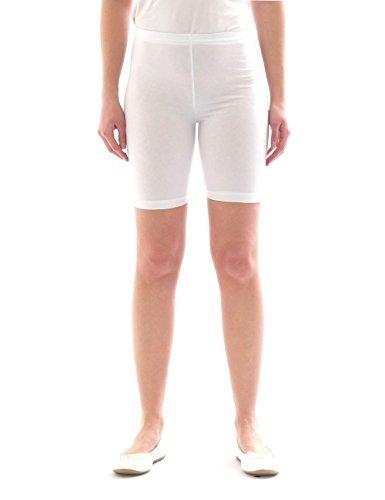 Weiße Baumwolle Junge Kurze (Kinder Shorts Sport Pants Sportshorts kurze Leggings aus Baumwolle Jungen Mädchen weiss 152)