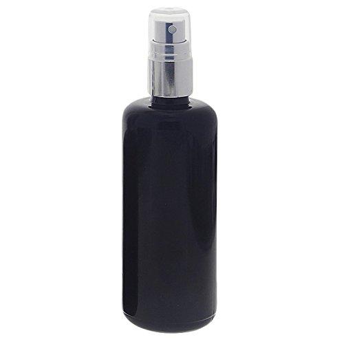 Kosmetex Violettglas mironglas sprühflasche 100ml stark lichtschützend miron glas-flasche mit silber pump-zerstäuber kosmetex flakon 100 ml