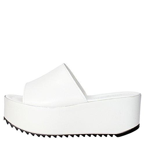 Pregunta IAF22523-7 Ciabatta Donna Pelle Bianco Bianco 36