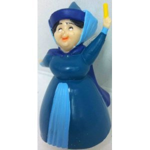 "Disney Sleeping Beauty Princess Auroras Fairy Merryweather, 3"" Figure Doll Toy, Cake Topper"