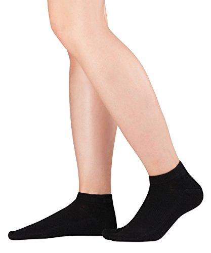 Knitido Tabi Sneaker, kurze Zwei-Zehen-Socken aus Baumwolle, Größe:39-42, Farbe:Black