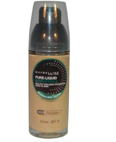 Liquid Mineral Foundation (Maybelline Pure Liquid Mineral Foundation # 008 Porcelain)