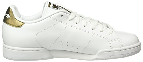 Reebok Npc Ii Metallics, Sneakers Basses Homme Blanc (White/Antique Copper)
