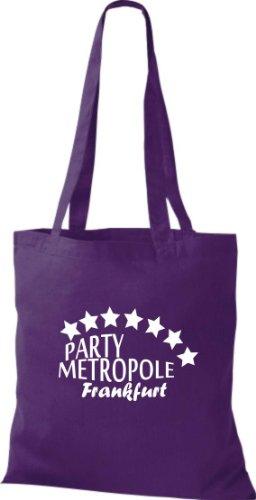 Sachets Fête Metropole Frankfurt City Style Sac en coton, Sac, Sac à bandoulière Plusieurs couleurs Violet - Violet