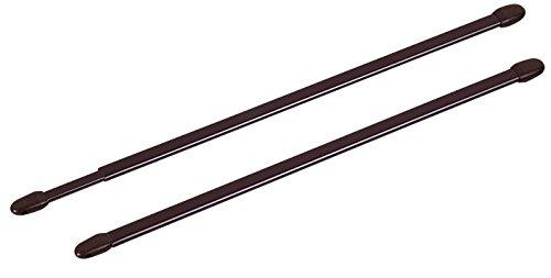 ATELIERS 28 Tringle Extensible Ovale Marron - Longueur 70 à 110 cm - Vendu par 2