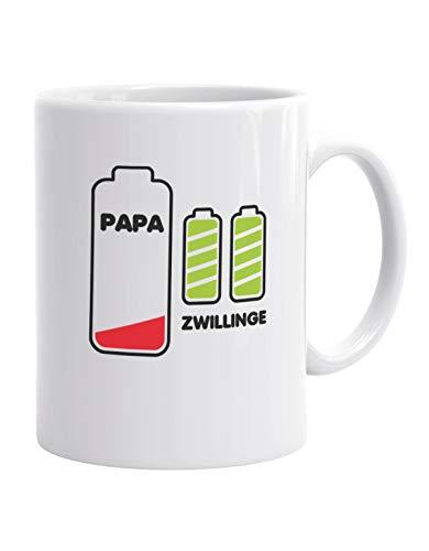 Jayess - Vater Kaffeebecher - Papas Akku leer - Zwillinge Batterie voll