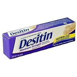 Desitin Maximum Strength Diaper Rash Paste 1 Ounce (box of 6)