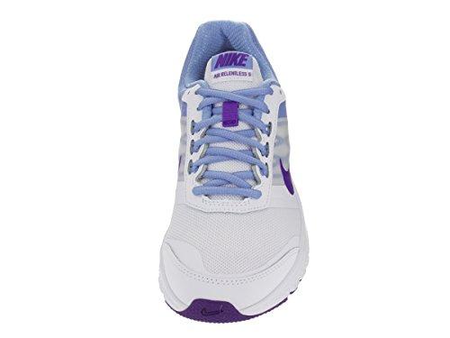 Nike Wmns Air Relentless 5, Scarpe sportive, Donna White/Frc Purple/Chlk Bl/White