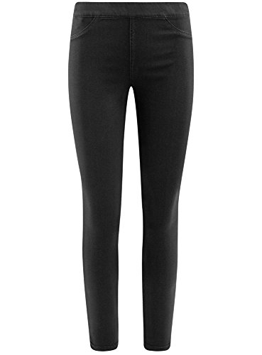 oodji Ultra Damen Jeggings Basic Schwarz (2900W)