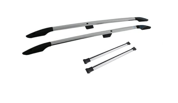 To Fit 2013 BLACK Cross Bars Ford Transit Tourneo Custom SWB STEEL Roof Rails