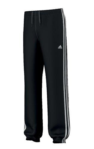 adidas Jungen Trainingshose Essentials 3S Sweat Pants brushed CH, Black/White, 128, Z24641