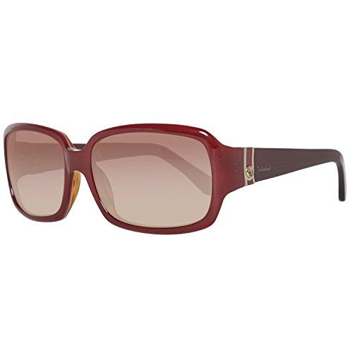 Timberland tb2116-5671f, occhiali da sole donna, marrone (bordeaux/gradient brown), 56