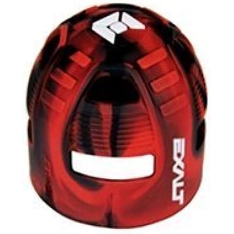 Exalt Paintball Carbon Fiber Tank Grip Cover For All Sizes - Black/Red Swirl by Exalt