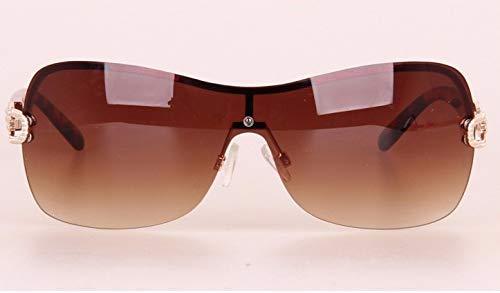 Wghz Ultraleichte Augenschutz Shade Vintage randlose Brille Sonnenbrille Frauen Markendesign mit Logo-Legierung Kette Gold Frame Lady Brille Silber