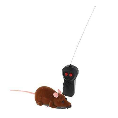Homyl Elektrisches Katzenspielzeug Maus Spielzeugmaus mit Fernbedienung für Katzen - Braun