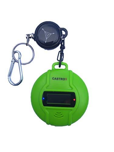 CASTROS Ultraschall Schädlingsbekämpfer für Outdoor & Indoor! Insektenvertreiber und Mückenschutz mit Kompaß + sehr praktischem ausziehbarem Schlüsselanhänger (Grün)