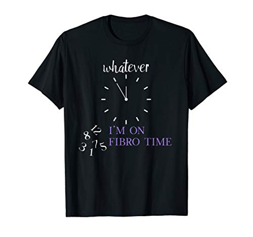 Funny Fibromyalgie Awareness I'm on Fibro Time Meme Zitat T-Shirt - Fibromyalgie Chronische Müdigkeit