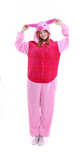 APXPF Damen Erwachsener Baby-Body Unisex Kostüm Tier Cosplay Pyjamas Anime Karikatur Mittel Ferkel
