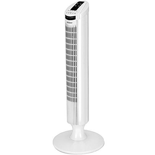 Monzana Turmventilator 90° Oszillationswinkel mit Fernbedienung 3 Geschwindigkeitsstufen 84cm Timerfunktion Turbo-Funktion weiß - Säulenventilator Standventilator Luftkühler Ventilator