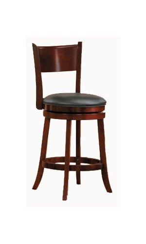 Homelegance Edmond Swivel Counter Height Chair in Dark Cherry [Set of 2]