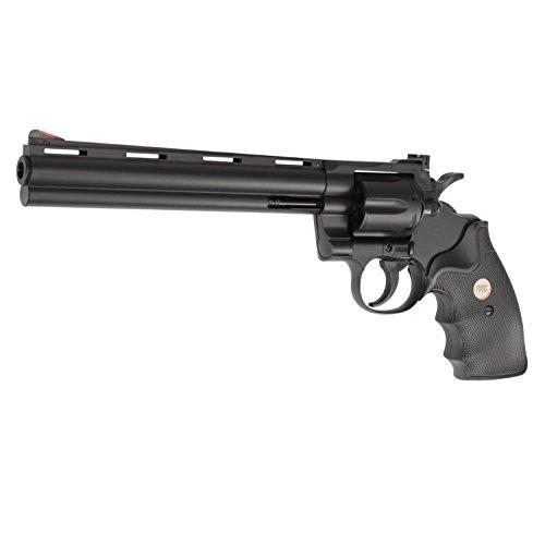 """UHC UA941 Python Revolver 8""""-20.32cm Lauf Softair Federdruck Revolver in Schwarz, unter 0.5 Joules, Metall und ABS"""
