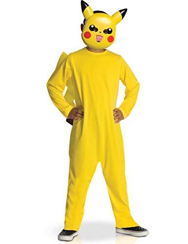 KULTFAKTOR GmbH Pikachu Kinderkostüm Pokemon Kostüm gelb-rot-schwarz 104/116 (5-6 Jahre) (Rot Pokemon Kostüm)