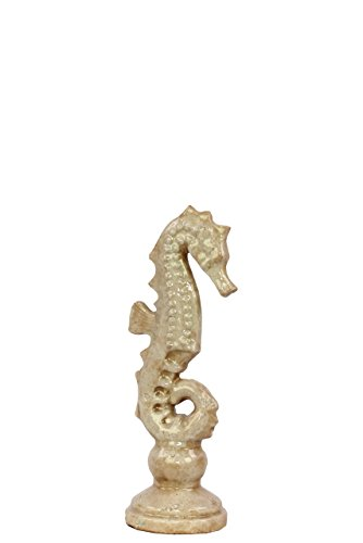 Benzara Attraktive & elegante Keramik Meer Pferd, klein, weiß