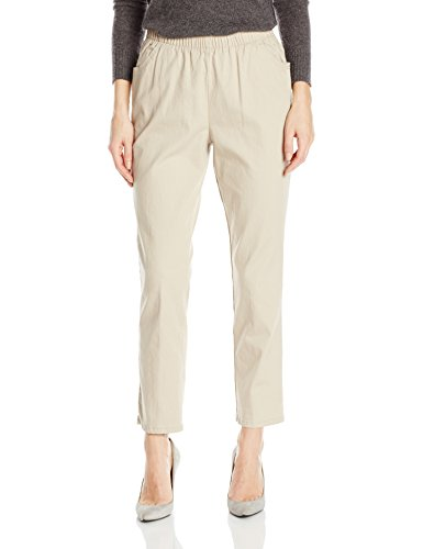 Chic Classic Collection Damen Hose Stretch Elastische Taille Schlupfhose - Beige - 44 zierlich - Womens Classic Collection