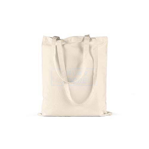 licaso Bolsa de Deporte Personalizada Texto en (Color) tu Nombre en Bolsa de Deporte con cordón Resistente Gym Bag Personalizable con cordón 100% algodón, Adore, Natur