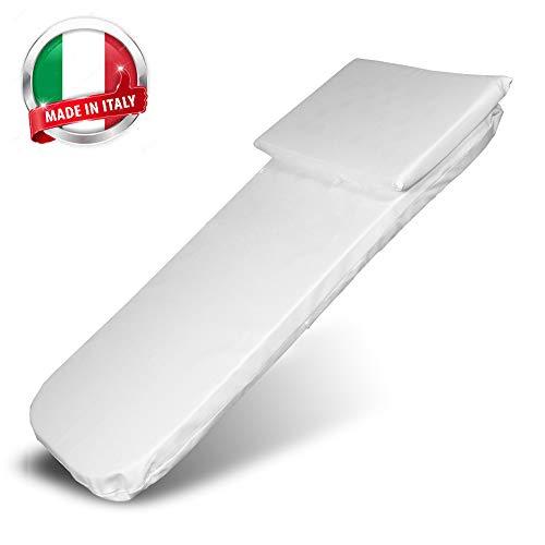 Materasso Carrozzina-Culla Neonato-Lettino Bambino-Passeggino Trio-Cuscino Neonati-Culle Bambini- Letto Prima Infanzia- Materassino Universale Antisoffoco Made in Italy 72 x 29,5cm