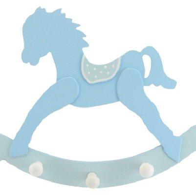 Gisela Graham Crochets en bois pour cheval à bascule Bleu