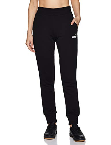Puma Damen ESS Sweat Pants TR cl Hose, Cotton Black, L