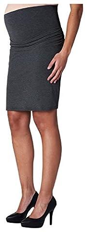 Noppies Damen Umstands Rock Skirt jersey Ivy 2, Knielang, Gr. 34 (Herstellergröße: XS), Grau (Anthracite Melange C247)