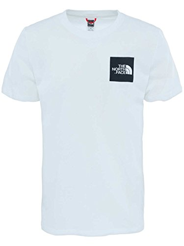The North Face Herren T-Shirt M Shortsleeve Fine Tee weiß / schwarz