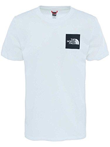 The North Face Herren T-Shirt M Shortsleeve Fine Tee weiß / schwarz