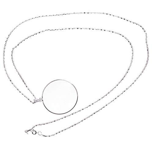 IPOTCH Halskette Lupe 5x Fach Vergrößerung Halskette Lupe Leselupe Anhänger Pendant Kette Lupen...