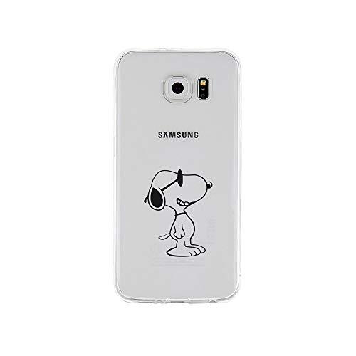 licaso Samsung S6 Handyhülle TPU mit Hund Sonnenbrille Print Motiv - Transparent Cover Schutz Hülle Dog Sun Aufdruck Druck