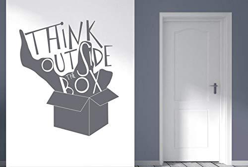haotong11 Think Outside The Box Shadow zitiert Wandaufkleber Aufkleber 65 * 57cm -