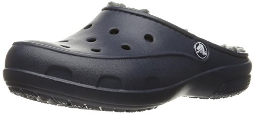 crocs Freesail Plush Lined Clog, Damen Clogs, Blau (Navy), 38/39 EU