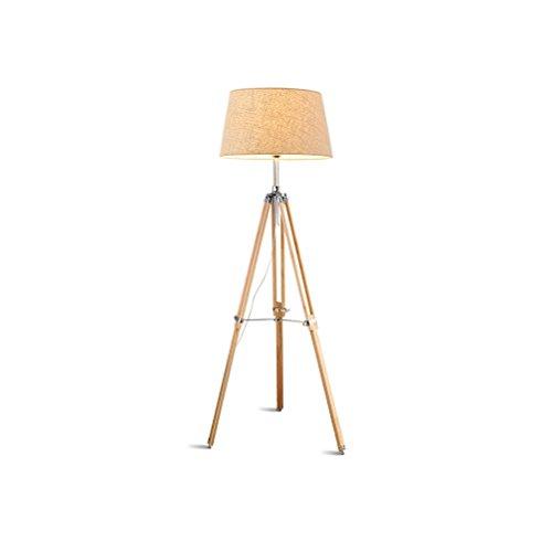 Clothes UK- Lámpara de trípode Ajustable Diseño Moderno Iluminación de Madera para Habitaciones Familiares Lámpara de Piso