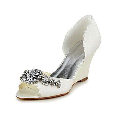 BeMIX Women's Shoes Satin Wedge Heel Peep Toe Sandals With