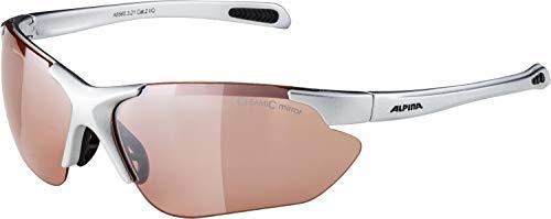 Alpina Sonnenbrille Amition JALIX Sportbrille, Silver-Black, One Size