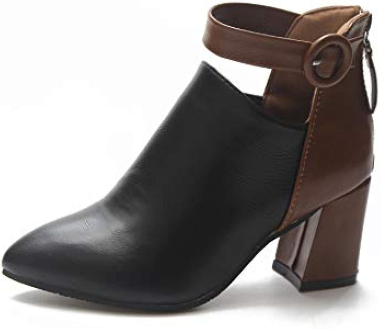 HOESCZS Wouomo scarpe Large Dimensione Wouomo Wouomo Wouomo avvioies New Retro Pointed Thick with Martin stivali Wouomo High Heel Low... | A Primo Posto Tra Prodotti Simili  | Uomo/Donna Scarpa  b9e71b