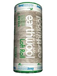 Knauf Insulation Earthwool Loft 100 Millimetre x 13.89 Square Metre Per Roll Pack of 1 Roll