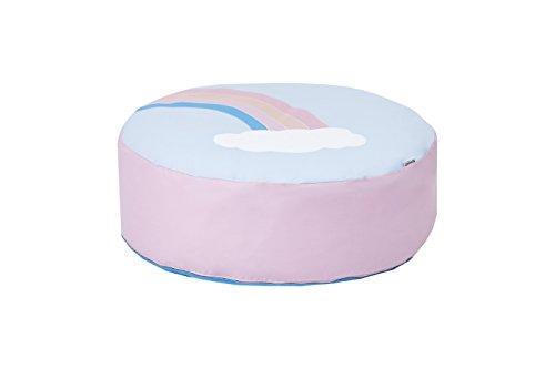Hoppekids Abnehmbarer Deckel, Stoff, Pink/Blau, 75 x 75 x 23 cm