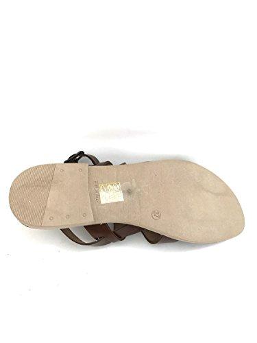 Sandali fibbia FIUME in pelle nero naturale tacco basso MainApps Nero
