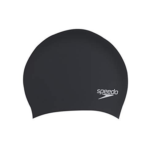 Mainline Erwachsene für Lange Haare Swim Caps, Schwarz, One Size