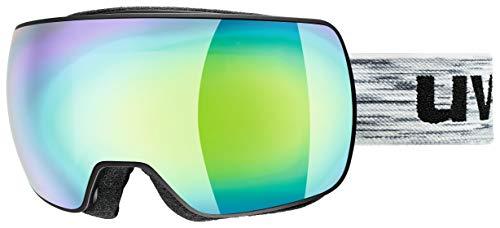 Uvex Erwachsene Compact FM Skibrille, Black mat/Green, One Size