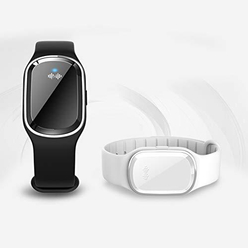 LAMF 2 Stück Ultraschall-Mückenschutz-Armband für Kinder und Erwachsene, elektronisches Anti-Moskito-Armband mit USB-Ladekabel, ungiftig und wasserdicht, perfekt für den Innen- und Außenbereich